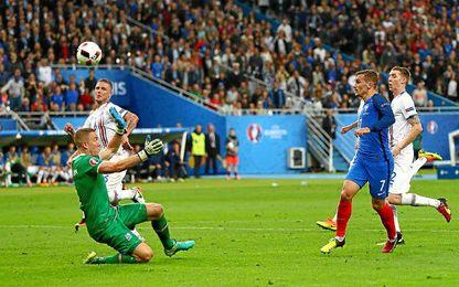 Griezmann anotó uno de los goles de Francia.
