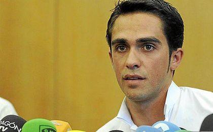 Contador durante una rueda de prensa.