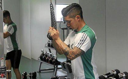 Felipe Guti�rrez en solitario en el gimnasio.