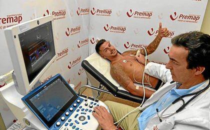 Vitolo, durante las pruebas médicas en Premap.