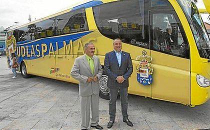 Ramírez, en la presentación del autobús del club.
