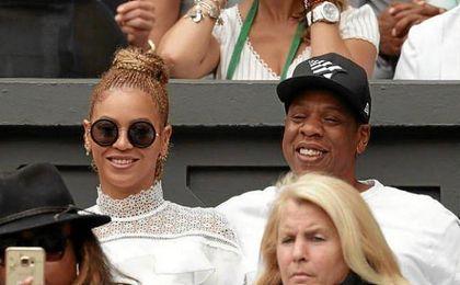 Beyonce, junto a Jay Z, en Wimbledon.