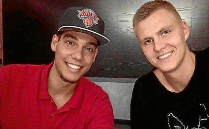 """Porzingis felicitó a su """"hermano"""" Willy por su fichaje por los Knicks."""