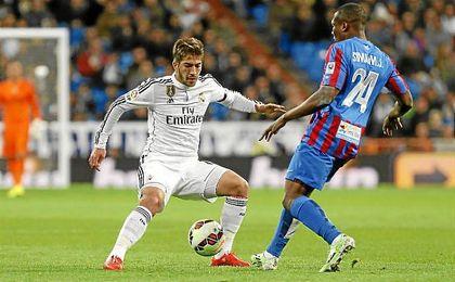 Lucas Silva, durante un partido con el Real Madrid.