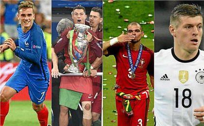 La UEFA ha elegido el once ideal de la Eurocopa de Francia.