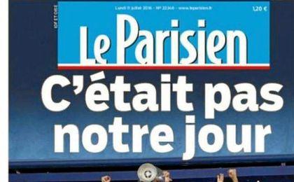 """Portada del diario Le Parisien: """"c��tait pas notre jour"""" (No era nuestro d�a)"""
