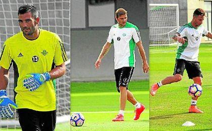 Adán, Joaquín y Rubén Castro serán fundamentales en los planteamientos de Poyet de cara a la próxima temporada.
