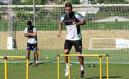 Álvaro Cejudo ejercitándose este miércoles en Marbella.