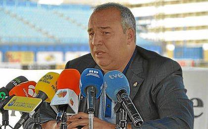 Miguel Ángel Ramírez, durante su comparecencia.
