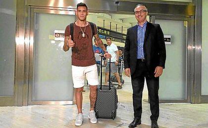 Sanabria, recibido por Torrecilla en el Aeropuerto de San Pablo.