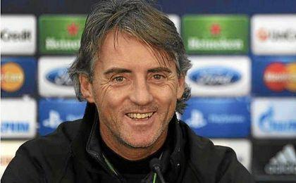 Mancini, en una conferencia de prensa.