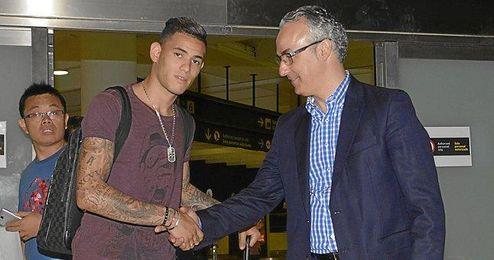 Sanabria, a su llegada a Sevilla.