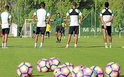Imagen del entrenamiento de esta tarde en Marbella.