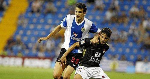 Álex Muñoz, con el Hércules.