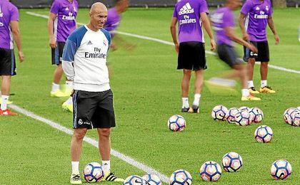 Zidane durante el entrenamiento