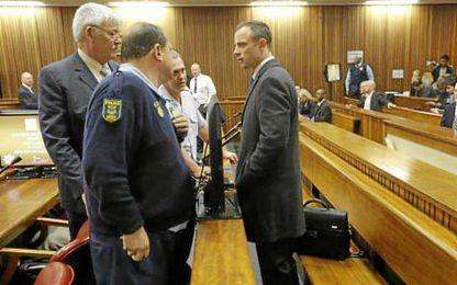Oscar Pistorius en los juzgados de Pretoria.