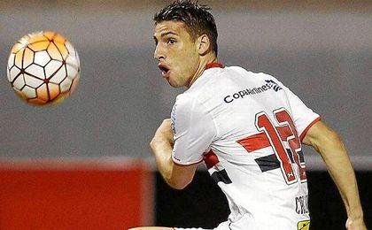 Calleri, durante un partido con Sao Paulo.