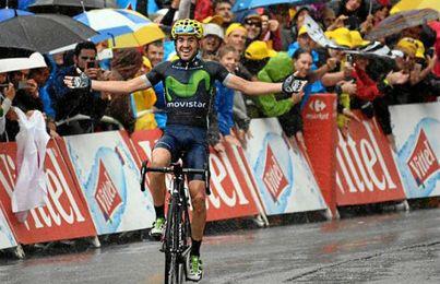 Izaguirre celebra su victoria.