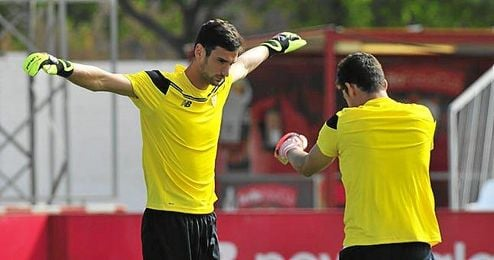 Rico y Soria, en un entrenamiento.