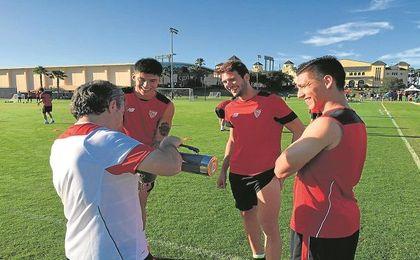 Joaquín ´Tucu´ Correa, Franco ´Mudo´ Vázquez y Matías Kranevitter han reforzado una plantilla en la que continúa Nico Pareja.
