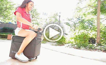 Una maleta que te lleva a 12 km por hora