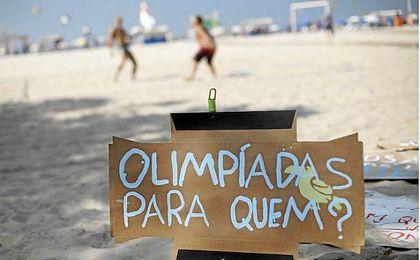 En muchos sectores de la sociedad brasileña no gusta la celebración de los Juegos.