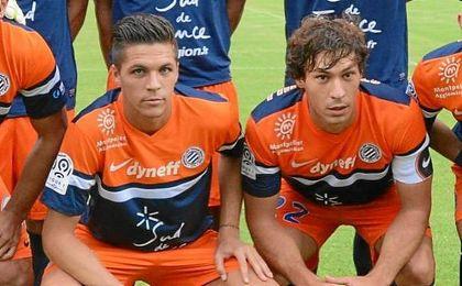 Jonas Martin y Benjamin Stambouli compartieron centro del campo en el Montpellier.