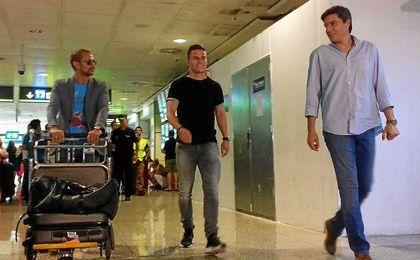 Gameiro, a su llegada a Madrid.