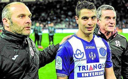 Pascal Dupraz junto a Ben Yedder en el Toulouse.
