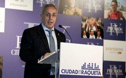 Alejandro Blanco en los premios Ciudad de la Raqueta 2016