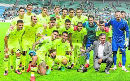Los béticos celebran la victoria en la Copa Ibérica
