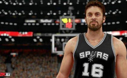 Avatar de Pau Gasol en el NBA 2k17.