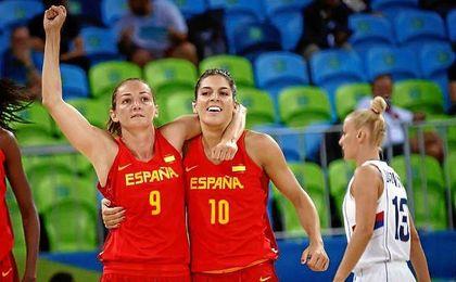 Después de tres cuartos muy ajustados, el último cuarto fue para las españolas.
