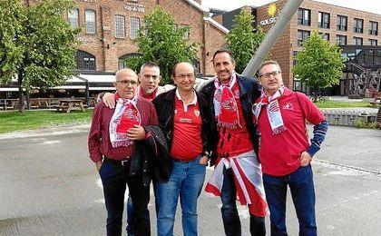 El presidente del Sevilla José Castro este martes en Trondheim.
