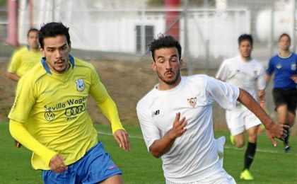 Giráldez, en su etapa en el Sevilla C.