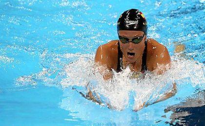 "Belmonte: ""Me he encontrado muy rara nadando""."