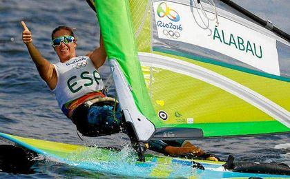 Marina Alabau posa durante una prueba en Río de Janeiro.