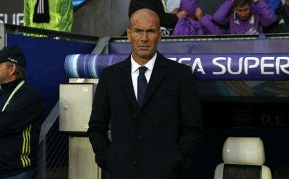 Zidane durante la disputa del encuentro.