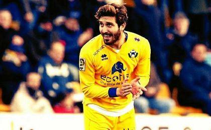Campaña defendió la pasada temporada la camiseta del Alcorcón.
