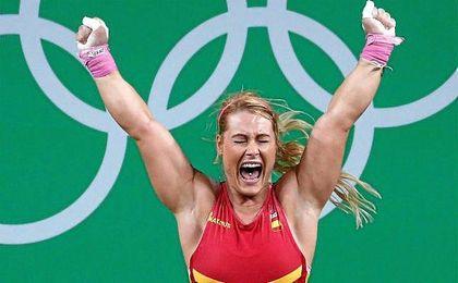 La leonesa, celebra su bronce en Río de Janeiro.