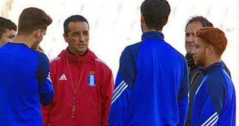 Peli junto a Oltra en su etapa en el Recreativo de Huelva.
