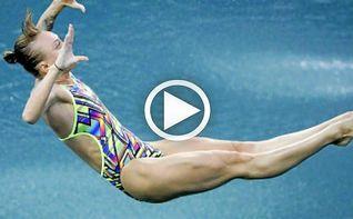 La rusa Nadezhda Bazhina obtiene un 0,0 en la prueba de salto de trampol�n