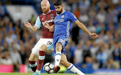 Diego Costa resolvió el choque con un derechazo.