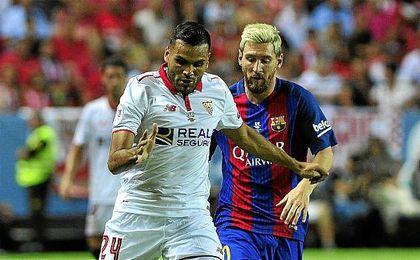 Mercado ganó muchos de sus duelos con Messi.