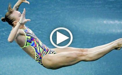 La nadadora rusa, Nadezhda Bazhina.