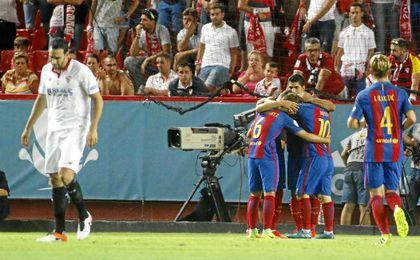 El Barcelona rentabilizó su superioridad en la segunda mitad.