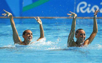 Mengual y Carbonell, durante su ejercicio.