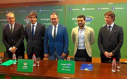 Fernando Moral, Ángel Haro, Juan Espadas, Sergio Martín y David Guevara este miércoles en San Pablo.