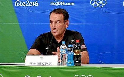 Krzyzewski, durante una rueda de prensa en R�o.