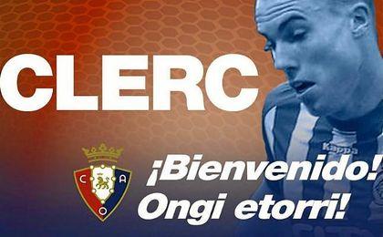 Carlos Clerc refuerza el carril izquierdo de Osasuna.